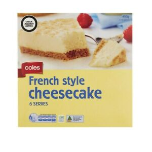 Coles Frozen French Style Cheesecake 450g