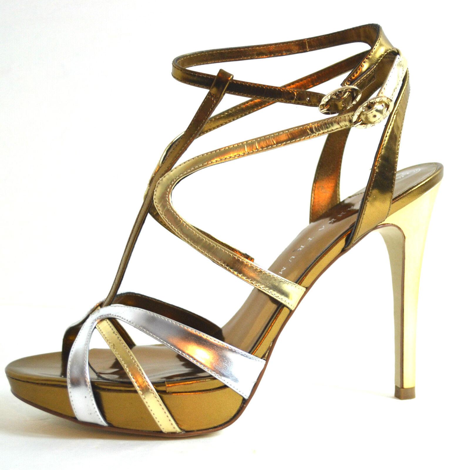 ELEGANT New Ivanka Trump Wouomo scarpe Sandals  oro Genuine Leather Dimensione 9.5 M  autentico