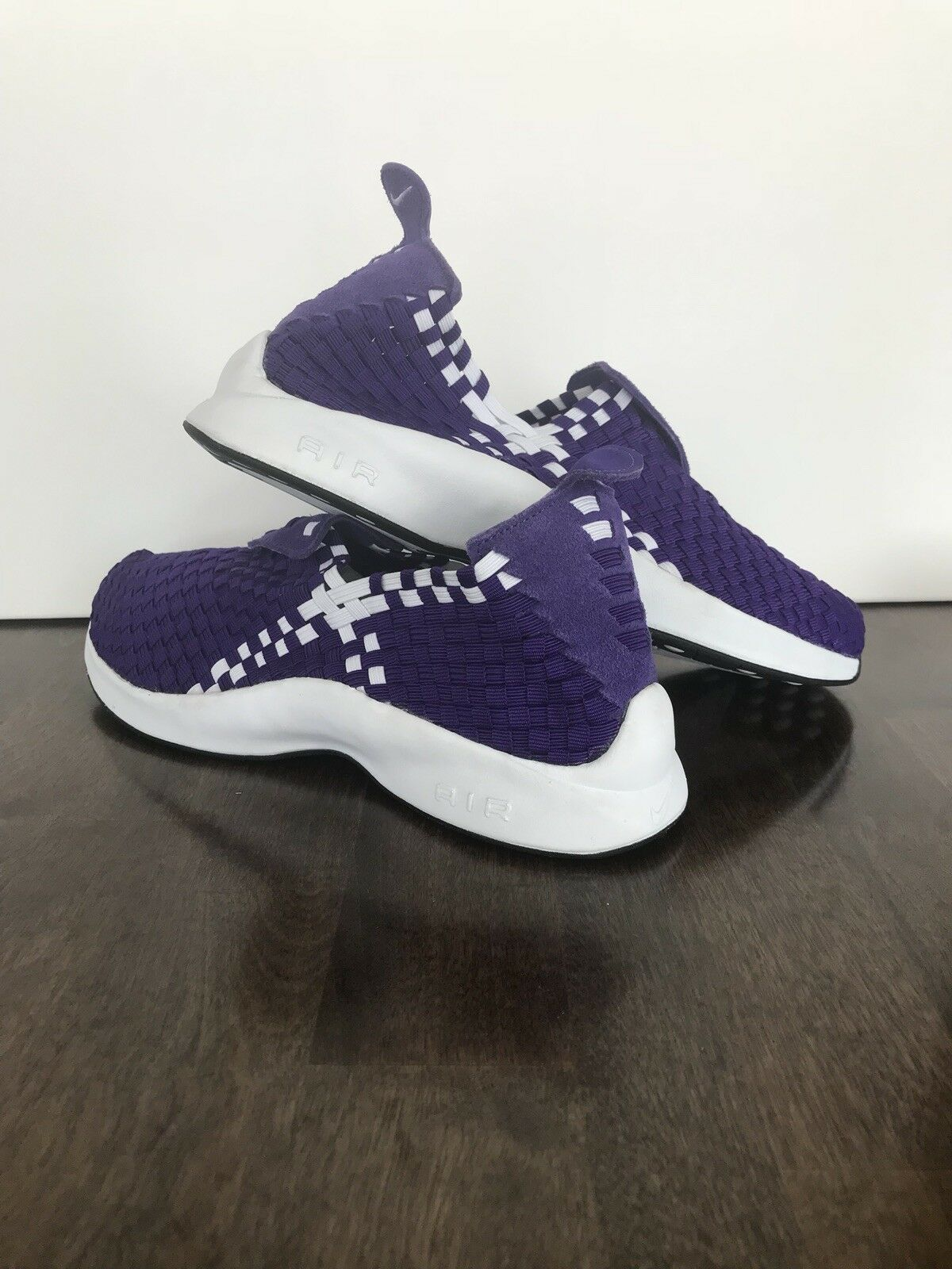 Nike Air Woven Court Purple Mens shoes Slip-On [312422-500] Size 10