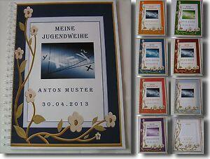 Festzeitung-Jugendweihe-3D-Blume-Bild-Geschenk-Einladung-Karte-Dekoration