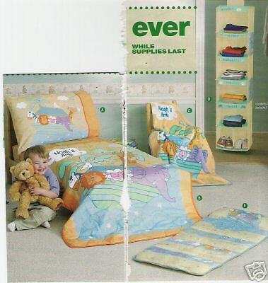 NOAH'S ARK Kids 4 piece Bedding Set,NEW