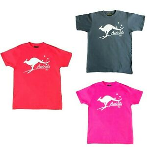 Adult-T-Shirt-Australia-Day-Souvenir-100-Cotton-Australia-Kangaroo