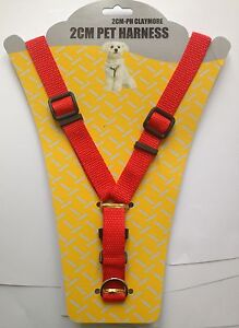 Red-2cm-Width-Puppy-Pet-Rope-Lead-Adjustable-Dog-Harness-Leash-Head-Collar