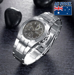 Wholesale-Silver-Crystal-Stainless-Steel-Black-Dial-Quartz-Watch-Men-s-Watch