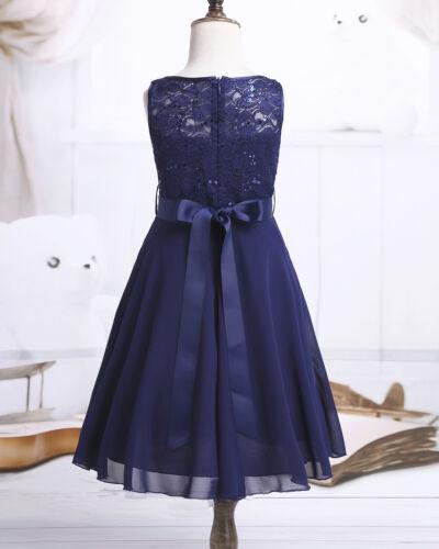 Formal Kids Fleur Fille Robe Princesse Demoiselle D/'honneur Mariage Fête Pageant robe