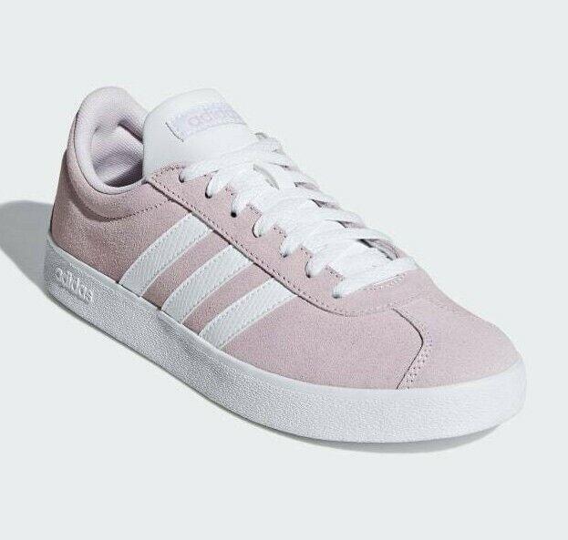 New adidas VL Court 2.0 Sneaker - Women's (9.5, Aero Pink / White)