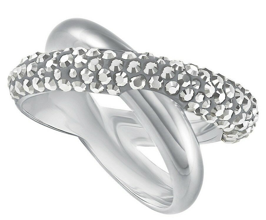 Swarovski Crystal Dust Ring cross Cry Gr.55 New