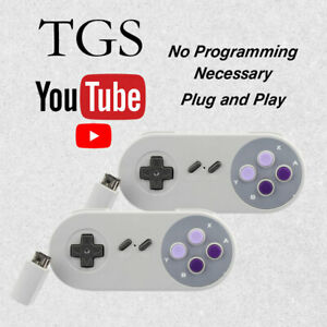 2-New-Replacement-Wireless-Game-Remote-Controller-Super-Nintendo-SNES-Classic