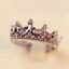 Parti Vintage Cristal Argent foret couronne en forme de Reine Bijoux Anneaux pour femmes