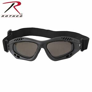 a5166a0d0e Image is loading Rothco-Black-VenTec-Tactical-Goggles-Anti-Scratch-Fog-