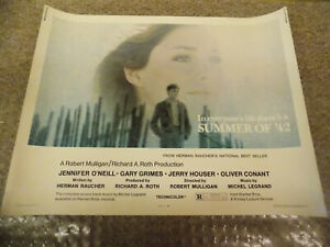 SUMMER-OF-039-42-1971-JENNIFER-O-039-NEIL-ORIGINAL-1-2-SHEET-POSTER-22-034-BY28-034