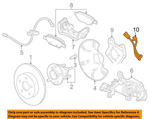 Chevrolet GM OEM 16-18 Cruze ABS Anti-lock Brakes-Rear Speed Sensor 39002173