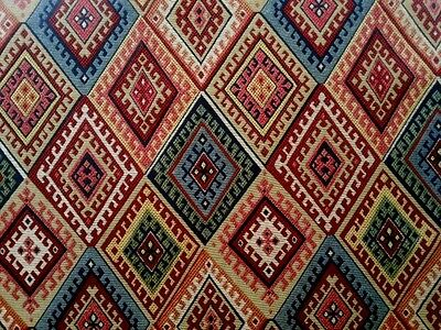 MARSON BOLIVIA GOLD AZTEC TAPESTRY CURTAIN SOFT FURNISHING UPHOLSTERY FABRIC