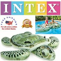Inflatable Turtle Swimming Pool Floats For Kids Ride On Pool Toys 75 X 67