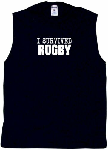 I Survived Rugby Mens Tee Shirt Pick Size Color Small-6XL