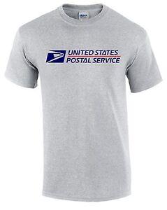 Usps postal 2 short sleeve tee t shirt logo on chest for Usps t shirt shipping