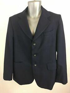 Para-Hombres-Willerby-Azul-Marino-Lana-Pura-nuevo-Traje-Chaqueta-Blazer-Elegante-Pecho-Talla-44-46