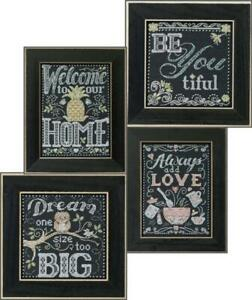 MILL-HILL-Counted-Cross-Stitch-Kit-CHALKBOARD-QUARTET-BUY-1-or-ALL-4