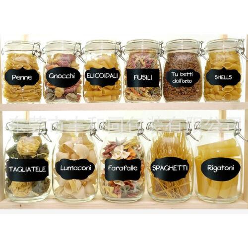 40pc Chalkboard Labels Organizing Can Bottle Jars Glasses Stickers Waterproof