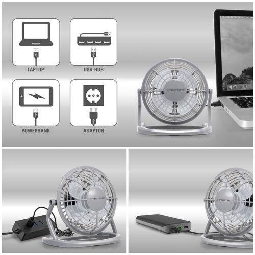Grau TROTEC USB Ventilator Tischventilator Mini FanNotebook Laptop Computer