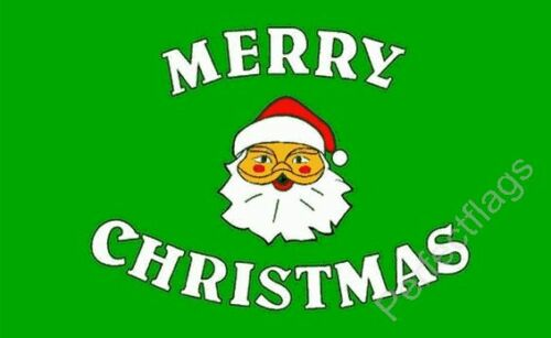 XMAS CELEBRATION BANNER 5x3 Feet MERRY CHRISTMAS GREEN FLAG Choose Size 3x2