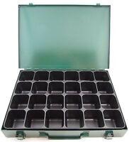 Metall Sortimentskasten Sortimentskoffer Kleinteilekoffer Kleinteilebox  24 Fach