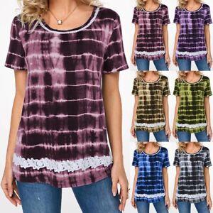 Plus-Size-Women-Short-Sleeve-T-Shirts-Summer-Casual-Tee-Top-Blouse-Fashion-Shirt