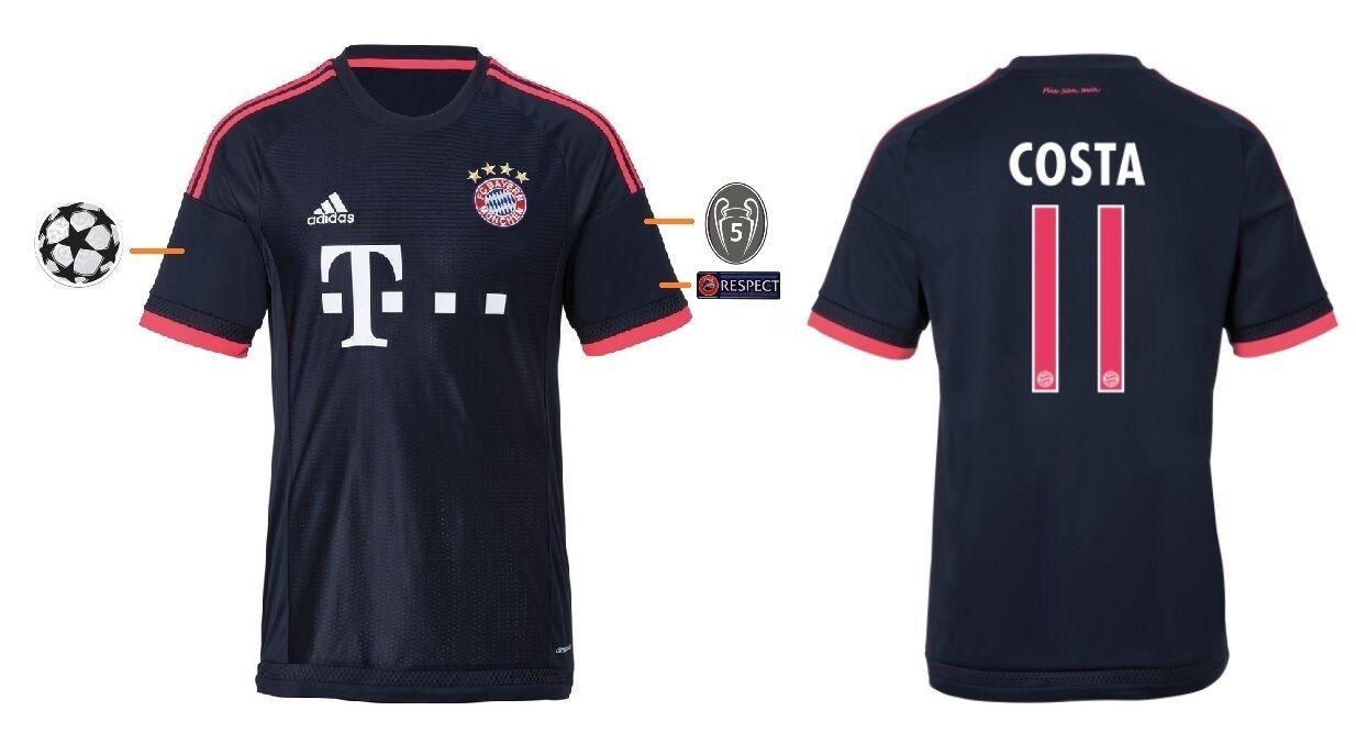 Trikot Adidas FC Bayern 2015-2016 Champions League - Costa Costa Costa  FCB 3rd  | Qualität und Verbraucher an erster Stelle  3aa3d2