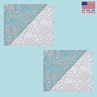 2 Wallpapers White Embossed Textured Vinyl Kensington | Renovator's Supply on sale