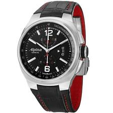 Alpina Men's Racing Chronograph Quartz Black Leather Strap Watch AL725AB5AR26