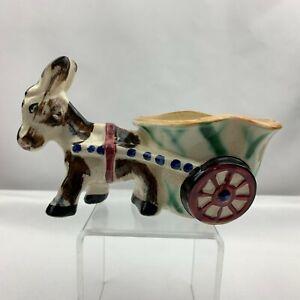Vintage Donkey Pulling Cart Planter -Made in Japan
