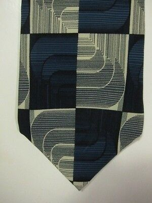 Gorgeous Jhane Barnes Blue And Silver Squares Made In