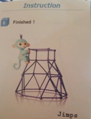 Jungle Gym Playset Stand for Fingerlings Interactive Monkey Toy T2