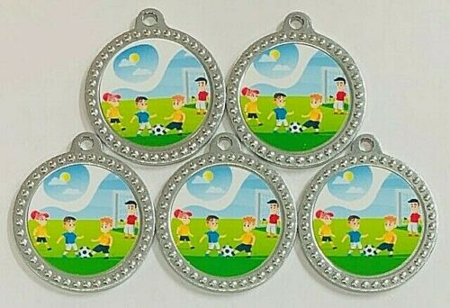 Football kids Mini Medals with FREE RIBBONS /& P/&P