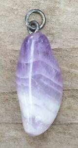 Mature-Chain-Pendant-Amethyst-Healing-Stone-Tumbled-Stone-Purple-White-2g