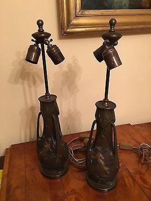 Garnier J. Vasen,tischlampen ,antik,jugendstil Orginal Frankreich , Ein Paar! Kann Wiederholt Umgeformt Werden.