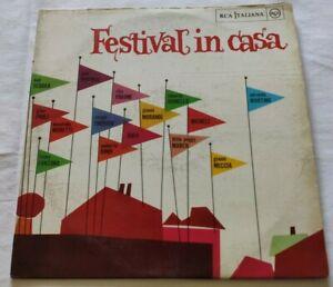 VARIOUS-LP-FESTIVAL-IN-CASA-VINYL-33-GIRI-ITALY-1963-RCA-PML-10358-VG-NM