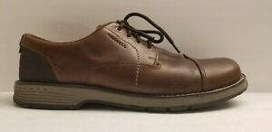 Merrell-Brown-Leather-Casual-Lace-Up-Select-Grip-Men-039-s-Shoes-Size-12-M