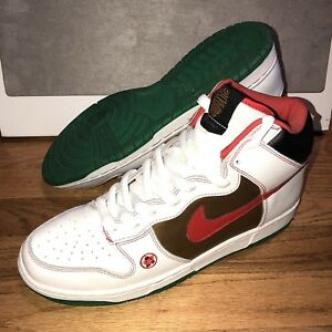 056c85a878 Nike Dunk High Pro SB Mens Size 11.5 Money Cat White Red Gold 2007 ...