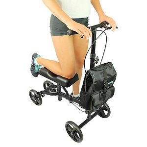 Rolling 4 Wheel Knee Walker Broken Leg Foot Crutches Scooter Seat