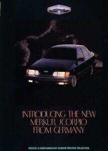 1987 1988 Merkur Scorpio Ford 4-page Advertisement Print Art Car Ad J870