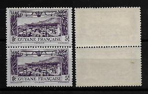GUYANE-Colonie-Francaise-PAIRE-POSTE-AERIENNE-16-Variete-SUP-MNH-R