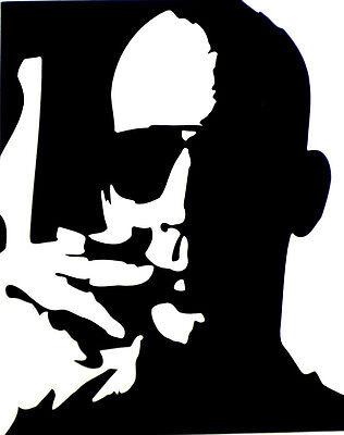 """4.5/"""" Hunter S Thompson vinyl sticker Fear /& Loathing Las Vegas decal for bong."""