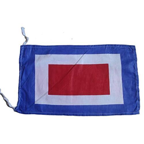 "100/% Cotton W 8/"" X 13/"" Nautical // Boat Maritime Flags Code Naval Signal Flag"