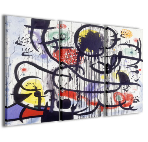 Stampe su tela Joan Mirò IV quadri moderni in vari formati pronti già intelaiati