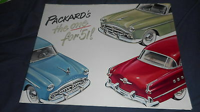 1951 Packard 400 Patrician 200 300 Full Line  Original Brochure Prospekt