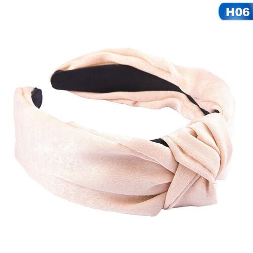 Women/'s Cute Headband Alice Band Top Knot Fashion Plain Headband Twist Hairband~