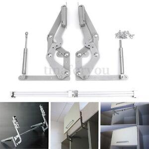 2 Cabinet Door Vertical Swing Lift Up Stay Pneumatic Arm Kitchen ...