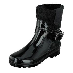 Gosch-Shoes-Sylt-Zapatos-Mujer-Botas-de-Agua-Botas-Forradas-7102-505-9-Negro