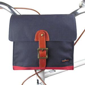 Tourbon-Canvas-Bike-Bicycle-Front-Handlebar-Bag-Sling-Shoulder-Pannier-Blue-amp-Red